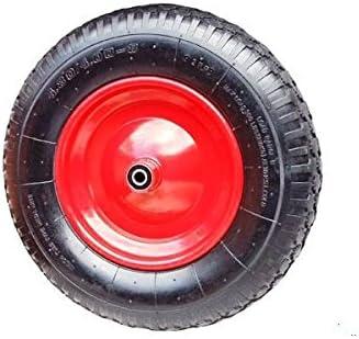 Carretilla – Rueda carretilla rueda llanta rojo 4.80/4.00 – 8 orificio del eje: 20 mm