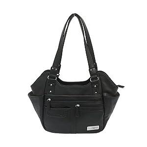 NC Star BWM001 Vism Concealed Carry Hobo Bag, Black, Large