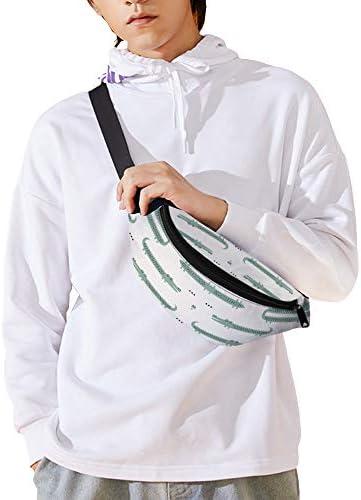 ワニアイボリー ウエストバッグ ショルダーバッグチェストバッグ ヒップバッグ 多機能 防水 軽量 スポーツアウトドアクロスボディバッグユニセックスピクニック小旅行