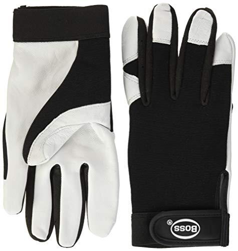 Boss Gloves 4047L Guard White Goatskin Palm Glove, Large