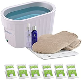 Therabath Professional Paraffin Wax Bath + Hand ComforKit ThermoTherapy Heat Professional Grade TB6 by WR Medical - 24lbs Eucalyptus Rosemary Mint