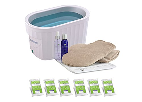Therabath Professional Paraffin Wax Bath + Hand ComforKit ThermoTherapy Heat Professional Grade TB6 by WR Medical - 6lbs Lavender Harmony ()