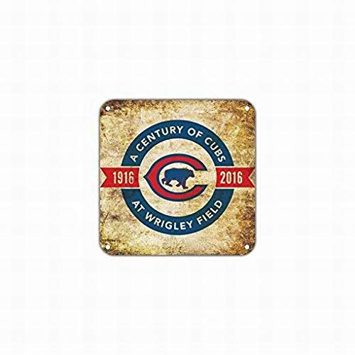 PaBoe A Century of Cubs from 1916 to 2016 at Wrigley Field 100th Anniversary Notice Sign Safety 12x12 Tin Metal Signs Road Street Sign Outdoor Decor Caution Signs