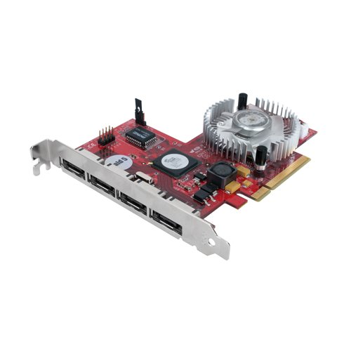 Sans Digital 4ESPCIE Four eSATA Ports PCI-Express (x8) Host Adapter