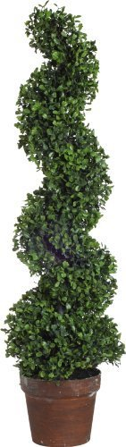 A&B Home Artificial Boxwood Spiral Tree Plant, 35-Inch