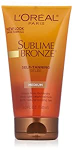 L'Oreal Dermo-Expertise Sublime Bronze Self-Tanning Gelee, Medium-Natural , 5 fl oz (150 ml)