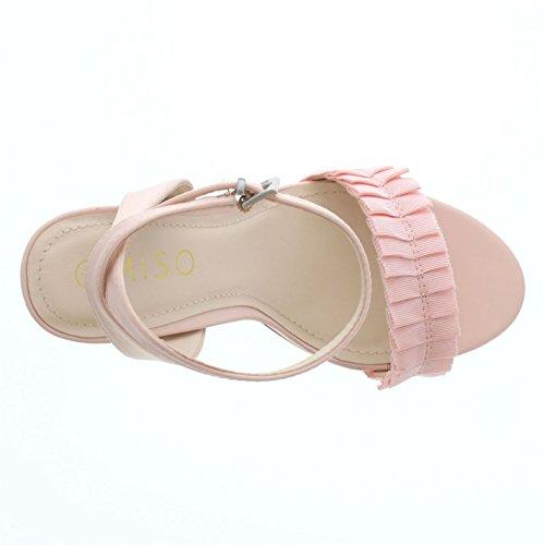Miso Blushrosa Tacón Mujer Satin Me Frill Zapatos De OwPUaqO
