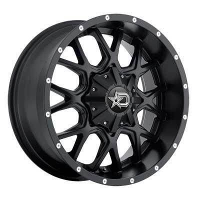 17 inch 17x9 ds645b black wheel rim