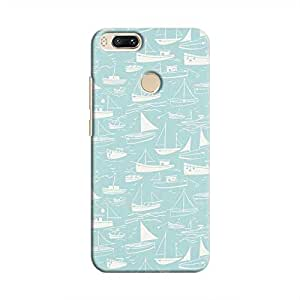 Cover It Up - Harbour Print Cyan Mi A1Hard Case