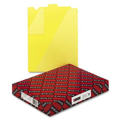 Brand New Smead Out Guides W/Diagonal-Cut Pockets Poly Letter Yellow 50/Box