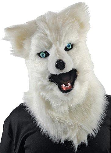 Halloween Mask- Animated Animal White Wolf Mask -Scary -