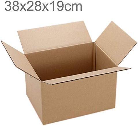 GzPuluz 梱包 包装アクセサリ 配送パッキング移動クラフトペーパーボックス、サイズ:38x28x19cm