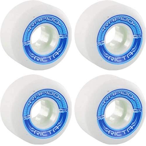 無料配達 Ricta B07HRKZFWR Wheels Rapido ワイドホワイト (4個セット)/ブルー スケートボードホイール Ricta - 54mm 101a (4個セット) B07HRKZFWR, YIELD:55de9025 --- mvd.ee