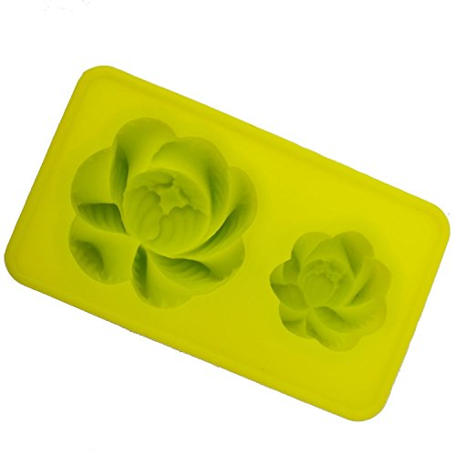 CHAWOORIM Soap Making Supplies Mold - Flexible Soap Molds Silicon Loaf for Making Hand Made Soap Peony Flower Shape (Peony Shape)