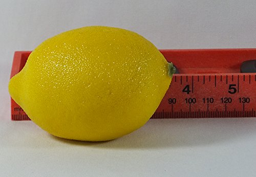 6pc Artificial Lemon Lemons - Plastic Citrus Fruit - Six Pieces by Viabella (Image #2)