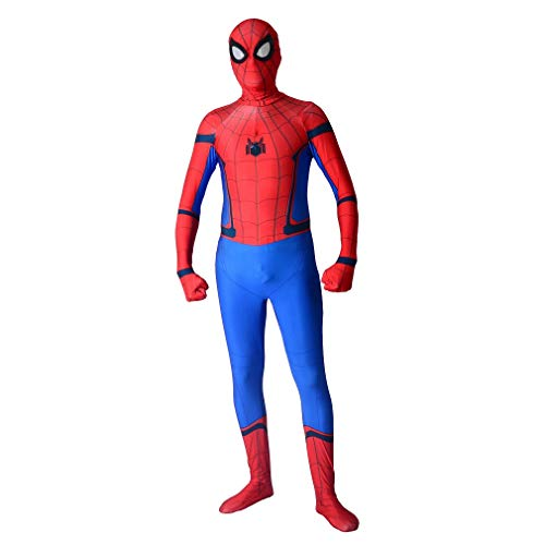 Zhenping Spider-Man Homecoming Tom Holland Costumes Lycra Spandex Spider-Man Cosplay Halloween Suit for (Kids-L, -