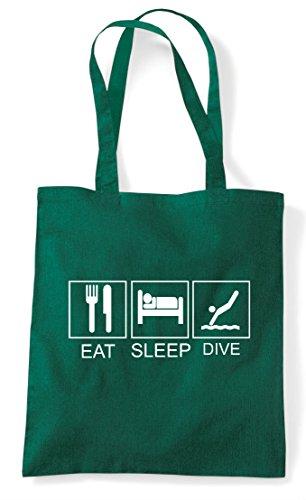Bag Funny Tote Tiles Green Dive Dark Shopper Hobby Sleep Activity Eat 0TwAHpnUT