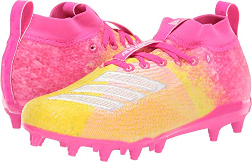(adidas Kids Unisex Adizero Burner Snowcone Football (Little Kid/Big Kid) Shock Pink/White/Yellow 1.5 M US Little Kid)