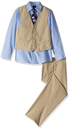 Steve Harvey Boys' Big Four Piece Vest Set, Ocean View Linen, 8 ()