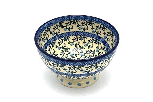 Polish Pottery Bowl - Pedestal - Small - Terrace (Gallery Pedestal Bowl)