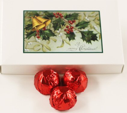 - Scott's Cakes Milk Chocolate Cherry Brandy Italian Butter Cream Candies with Red Foils in a 1 Pound Mistletoe Box