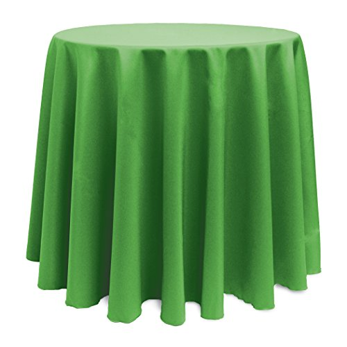 Kelly Green Polyester - Ultimate Textile 90-Inch Round Polyester Linen Tablecloth Kelly Green