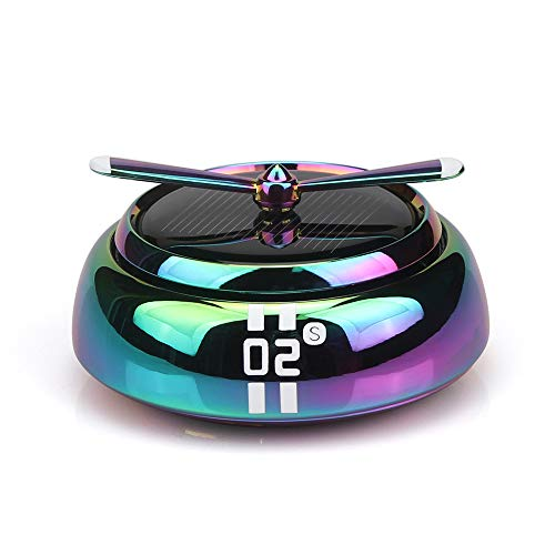 QBUC Car Air Freshener Solar Energy Rotating Cologne Car Aromatherapy Diffuser Interior Decoration Accessories Essential Oil Diffuser for Car Home(Colorful)
