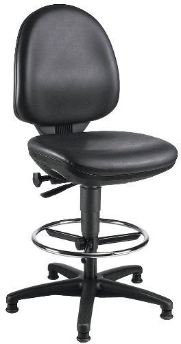work tec 50 swivel chair with foot ring and glide amazon co uk