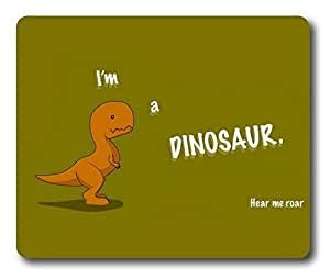 Funny Im A Dinosaur Easter Thanksgiving Personlized Masterpiece Limited Design Oblong Mouse Pad by Cases & Mousepads by ruishername