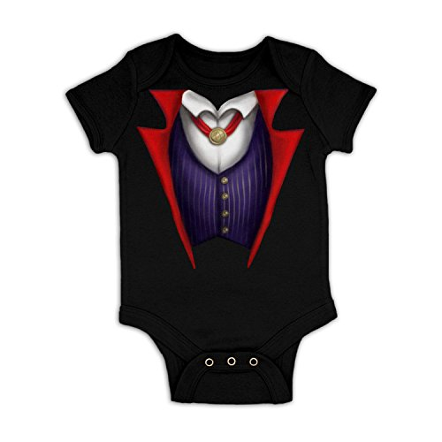 Vampire Costume Baby Grow - Black 3-6 (Halloween Costumes 3-6 Months Uk)