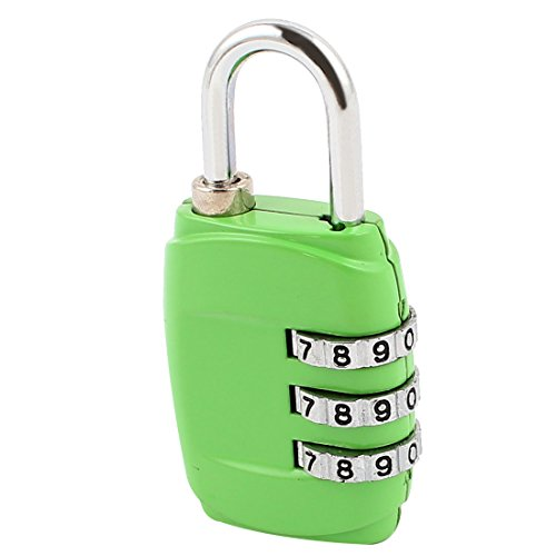 - Aexit Travel Backpack Padlocks & Hasps Jewelry Box Luggage Notebook Green Resettable 3 Dial Digits Combination Code Password Locking Lock Combination Padlocks Safety Padlock