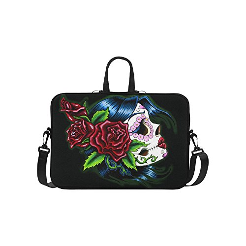 SLsenD Custom Female Sugar Skull Classic Water Resistant Computer Bag Laptop Sleeve Notebook Case Cover 13 13.3 (Female Sonic The Hedgehog)