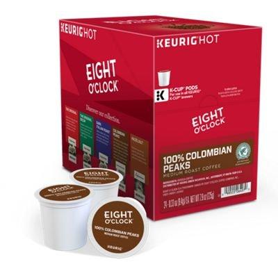Eight O Clock Coffee Colombian Peaks, Keurig K-cup Pods, Medium Roast Coffee, 96 Count