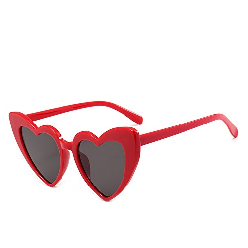 Pink Black Glasses Clear For Lens Red Shape Woman Fygrend Eyewear Vintage Heart Sun Gray Women PinkGray C4 New 9218 C5 Accessories Sexy Sunglasses 0pYx76q
