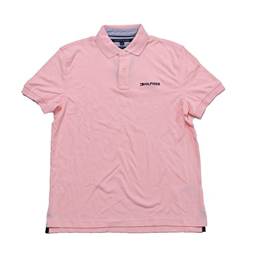 "Tommy Hilfiger Mens Classic Fit Interlock ""Hilfiger"" Polo..."