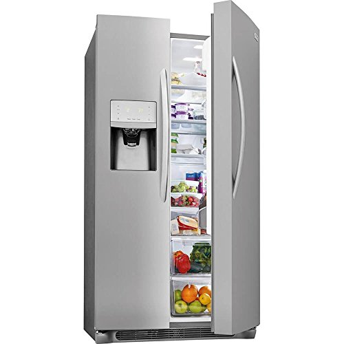 36 Ultra Bins - Frigidaire FGSC2335TF Gallery Series 36 Inch Freestanding Counter Depth Side by Side Refrigerator with 22.2 cu. ft. Capacity, in Stainless Steel