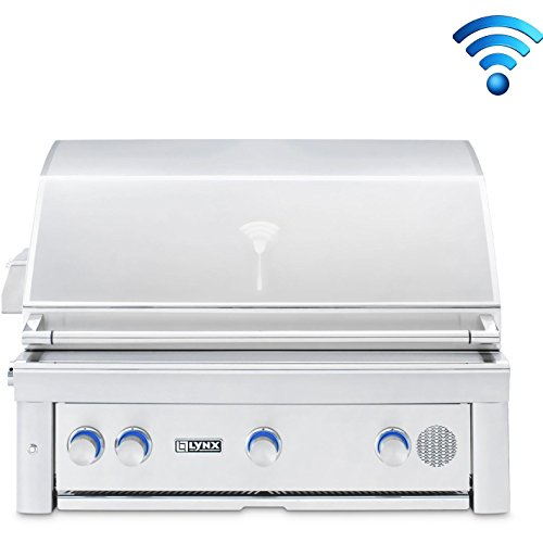 Smart Grill by Lynx SMART36-NG or SMART36-LP 36-Inch Built In with Rotisserie, Natural Or Propane Gas – (36″ Propane Gas)