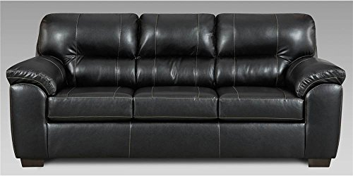Chelsea Home Transitional Sofa in Black