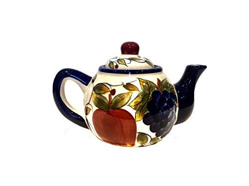 "Teapot with Fruit Design 9.5"""