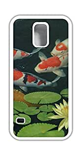 Hard Case Back Custom PC cell phone case for samsung galaxy s5 - A group of koi