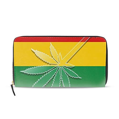 Mens Large Capacity Long Wallet Card Holder Guitar As Marijuana Clutch Handbag