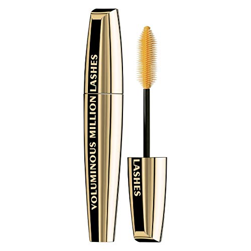 L'Oreal Paris Makeup Voluminous Million Lashes Mascara Volumizing, Defining, Smudge-Proof, Clump-Free Lengthening, Collagen Infused Eye Makeup Formula, Amplifying Mascara Brush,Carbon Black,0.3 fl.Oz (Loreal Double Lash Mascara)
