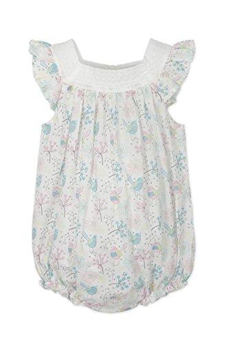 Woven Sunsuit - Feather Baby Girls Clothes Pima Cotton Woven Square Neck Bubble Sunsuit Shortie Baby Romper, 18-24 Months, Regal Bird-Colors on White
