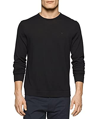 Calvin Klein Men's Merino Tipped Crew Neck Sweater