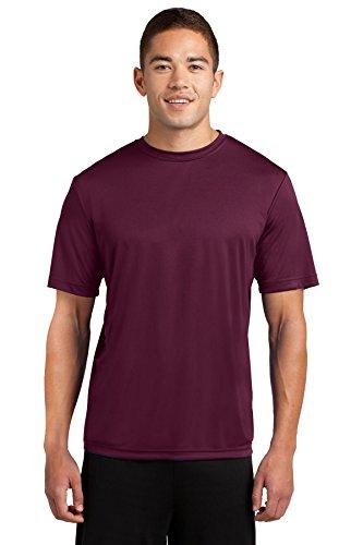 - Dri-Tek Mens Big & Tall Short Sleeve Moisture Wicking Athletic T-Shirt, 3XLT, Maroon