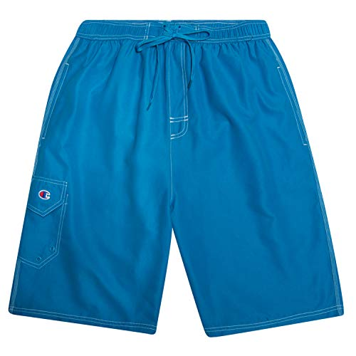 Champion Men's Big and Tall Classic Swim Trunks with Mesh Lining and Cargo Pocket
