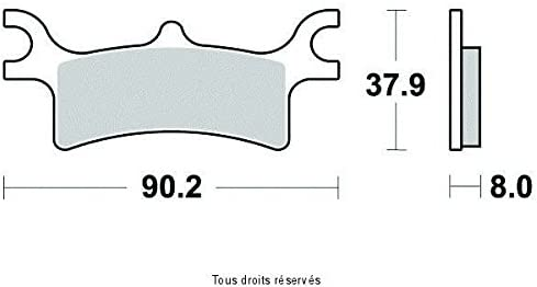 SIFAM-SIF BREMSBELAGE GESINTERTES METALL POLARIS PREDATOR 500 E 2006-2006 HINTER