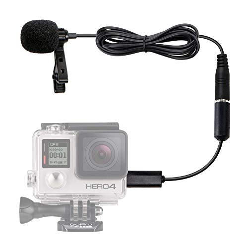 Movo GM100 Lavalier Microphone for GoPro with GoPro Mic Adapter