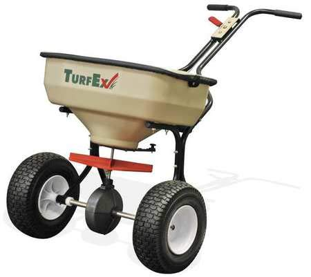 Broadcast Spreader, Push Type, 75 Lb Cap