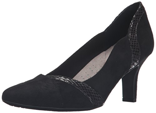 Rockport Women's Sharna Blocked Dress Pump Black Soft Microsuede 1k9ITEQ93E